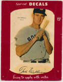 1952 Star Cal Decals 71.3 Ted Williams Good