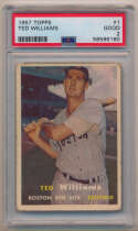 1957 Topps 1 Ted Williams PSA 2 (ctd)
