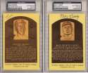 Yellow HOF Plaque  Collection of 76 different, all slabbed 9