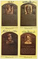Yellow HOF Plaque  21 different w/Berra & Musial 9