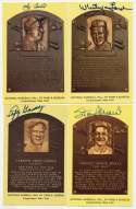 Yellow HOF Plaque  Collection of 19 w/3 Berras & Musial 9