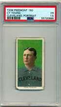 1909 T206 512 Cy Young (Cleveland, portrait) PSA 1.5