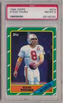 1986 Topps 374 Steve Young RC PSA 8