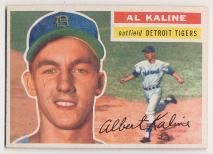 Lot #770 1956 Topps # 20 Kaline Cond: Ex
