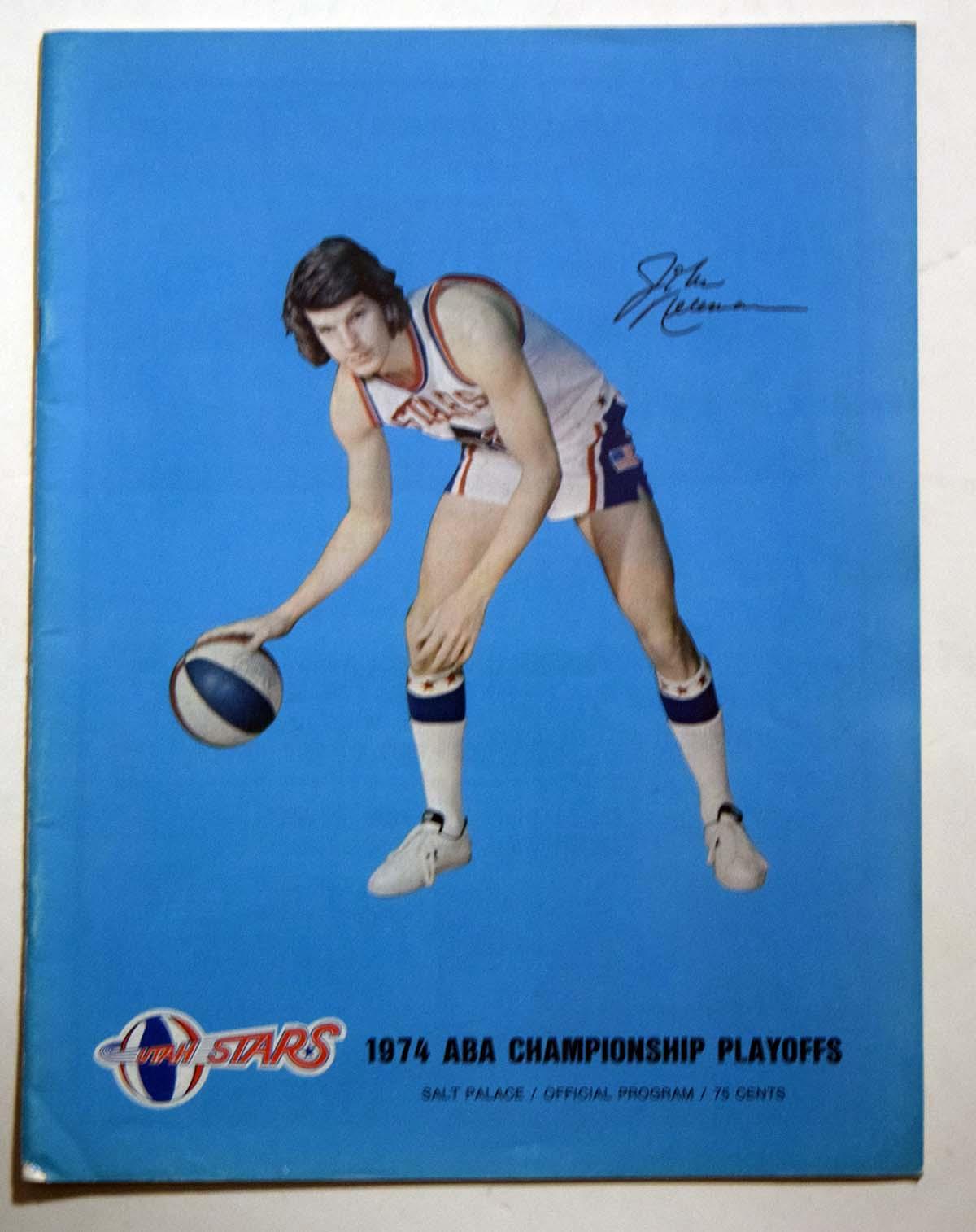 Lot #890 1974 Program  Utah Stars Playoffs Cond: Ex-Mt