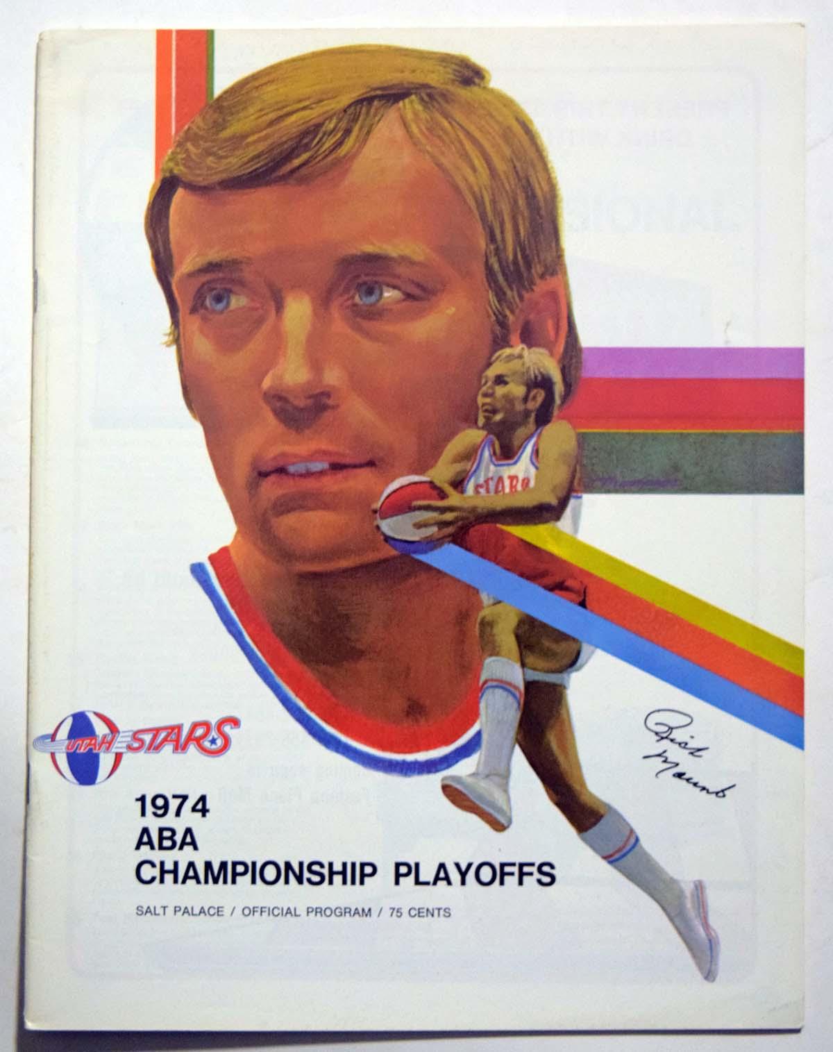Lot #997 1974 Program  Utah Stars Playoffs Cond: Ex-Mt/NM