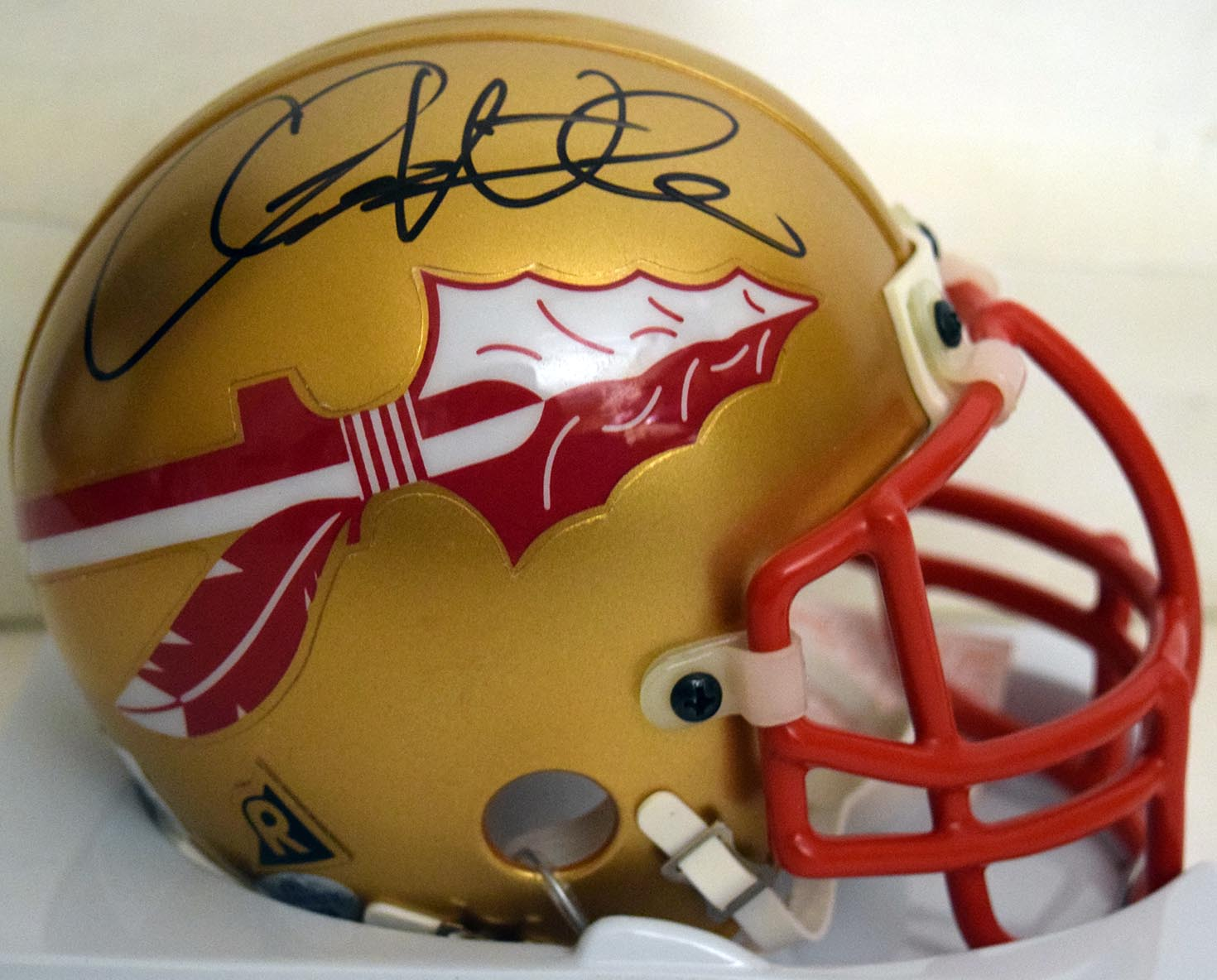 Lot #1009  Mini Helmet  Weinke, Chris (JSA LOA) Cond: 9.5
