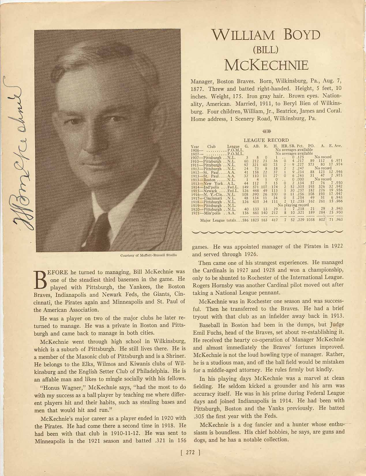 Lot #29  Who's Who Page  McKechnie, Bill Cond: 9.5