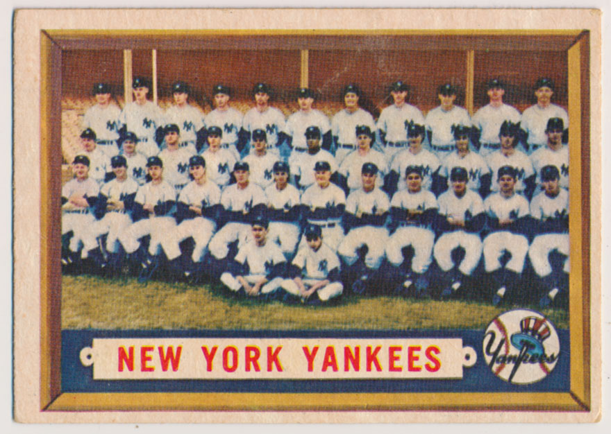 Lot #871 1957 Topps # 97 Yanks TC Cond: VG+