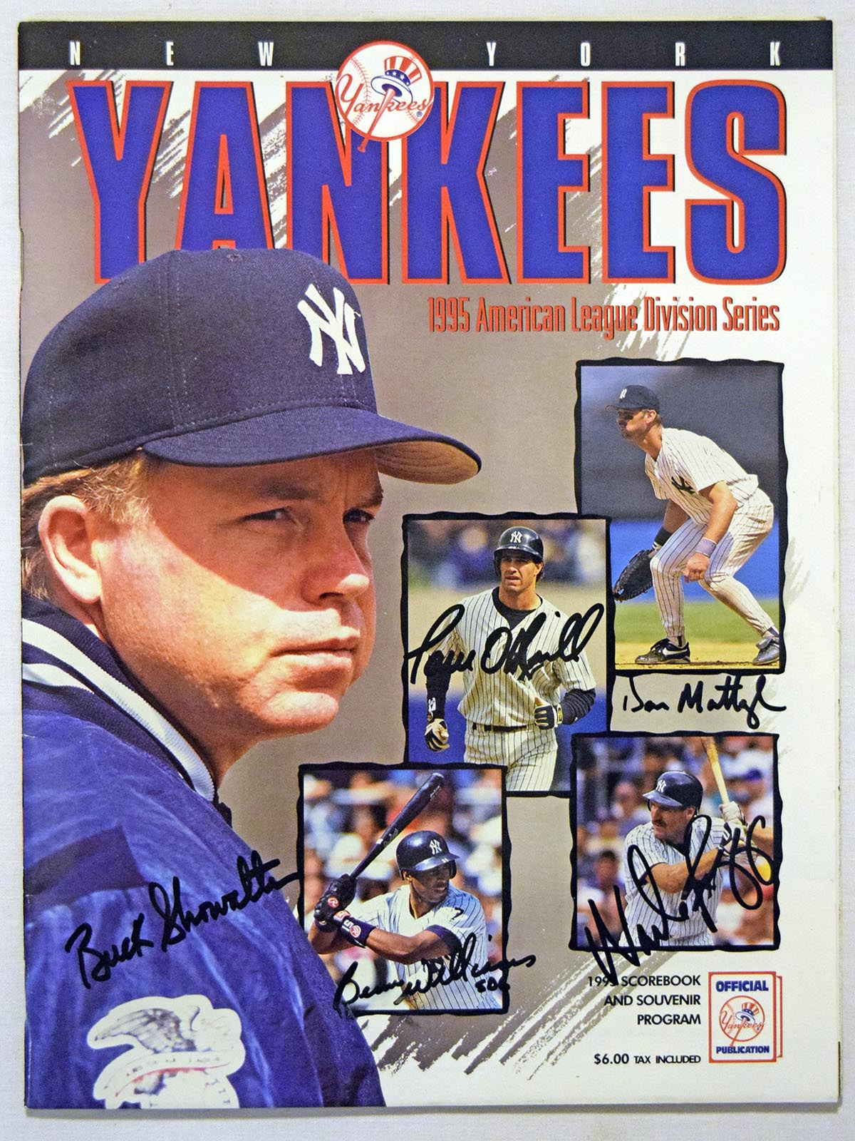 Lot #488  Program  1995 Yankees DS Signed Program Cond: 9.5