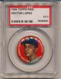 Lot #176 1956 Topps Pins # 4 Ernie Banks Cond: PSA 7