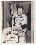 Lot #299  8 x 10  Mantle, Mickey (HOF Induction Card) Cond: 9
