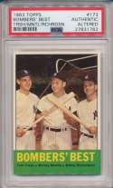 Lot #892 1963 Topps # 173 Bombers Best Cond: PSA 6