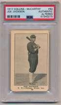 Lot #8 1917 E135 Collins McCarthy  Shoeless Joe Jackson Cond: PSA Authentic Altered