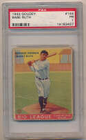 Lot #9 1933 Goudey # 144 Babe Ruth Cond: PSA 1
