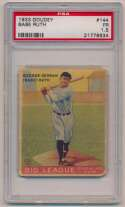 Lot #10 1933 Goudey # 144 Babe Ruth Cond: PSA 1.5