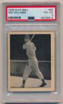 Lot #11 1939 Play Ball # 92 Ted Williams RC Cond: PSA 4