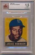 Lot #12 1948 Leaf # 79 Jackie Robinson RC Cond: Beckett 1.5