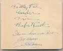 Lot #26    DiMaggio/Ruth Signed Vintage Album Page Cond: 9