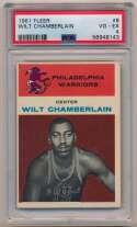 Lot #30 1961 Fleer # 8 Wilt Chamberlain RC Cond: PSA 4