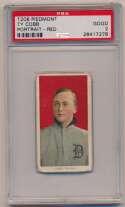 Lot #92 1909 T206  Cobb (portrait, red bckgrnd) Cond: PSA 2
