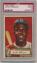 Lot #158 1952 Topps # 312 Jackie Robinson Cond: PSA 2