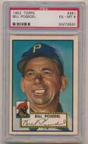 Lot #173 1952 Topps # 361 Posedel Cond: PSA 6