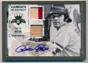 Lot #415 2016 Panini Elements of Loyalty  Pete Rose Signed Double Relic Card (1/1)