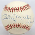Lot #489    # Billy Martin Cond: 9.5 (OAL Brown, Yankees, superb)