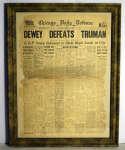 Lot #549 1948   Dewey Defeats Truman Newspaper