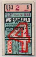Lot #857 1932 Ticket  World Series Game 4 Cond: GVG