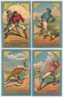 Lot #281 1882 H804-11 Trade Cards  Complete Set (9) Cond: Ex