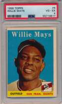 Lot #630 1958 Topps # 5 Mays Cond: PSA 4