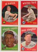 Lot #693 1959 Topps  469 different w/some stars Cond: Ex