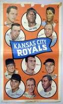 Lot #908 1969 Team Poster # 7 Kansas City Royals Cond: Good