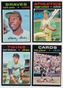 Lot #966 1971 Topps  472 different w/68 high #s & Aaron Cond: Ex