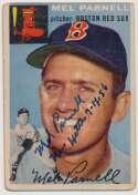 Lot #6 1954 Topps # 40 Mel Parnell (No Hitter Inscription) (JSA LOAA) Cond: 8