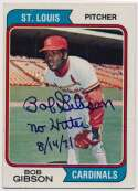 Lot #54 1974 Topps # 350 Gibson Cond: 9.5 (No Hitter Inscription)