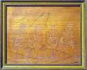 Lot #192  8 x 10  DiMaggio/Doerr/Pesky Signed Custom Framed Wood Engraving (JSA LOAA) Cond: 8