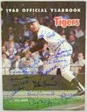 Lot #415  Program  1968 Tigers Signed Yearbook (20 sigs) Cond: 9