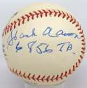 Lot #735    Aaron/Mays Total Bases Signed Ball Cond: 9