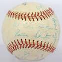 Lot #775 1950 Scranton Minors  Team Ball w/Frank Malzone Cond: 8