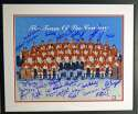 Lot #1232  Large Print  1972 Team Canada Signed/Framed Limited Edition Print (27 sigs) Cond: 9.5