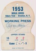 Lot #1368 1955 Press Pass  World Series