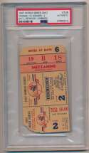Lot #1376 1947 Ticket  World Series Game 2