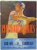Lot #1490 1946 World Series Program  At Boston (unscored, loose cover)