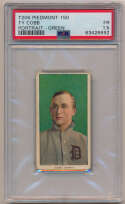 Lot #3 1909 T206 #   Cobb (portrait, green bkgnd) Cond: PSA 1.5