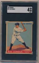 Lot #6 1933 Goudey # 92 Lou Gehrig Cond: SGC 4