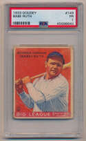 Lot #7 1933 Goudey # 149 Babe Ruth Cond: PSA 1