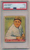 Lot #8 1933 Goudey # 181 Babe Ruth Cond: PSA 1.5